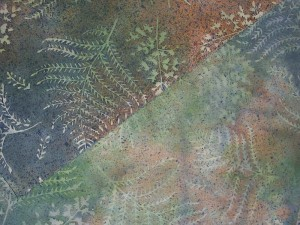 Fern Fabric after Painting Gray