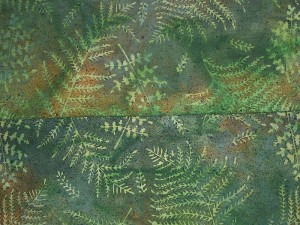 Painted Fern Fabric Green