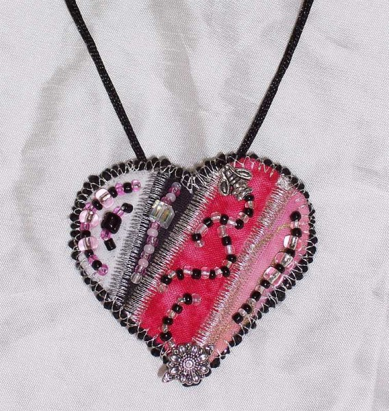 Heart Pin as Pendant