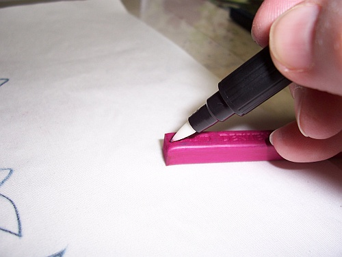 Blender Pen on Inktense Block