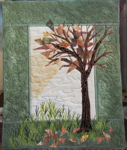 Tree Texture and Outer Quilting Done