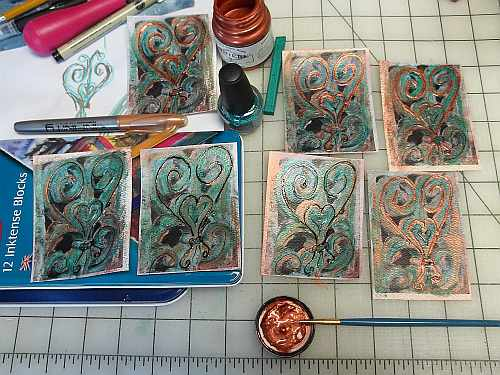 Cards in Various Stages