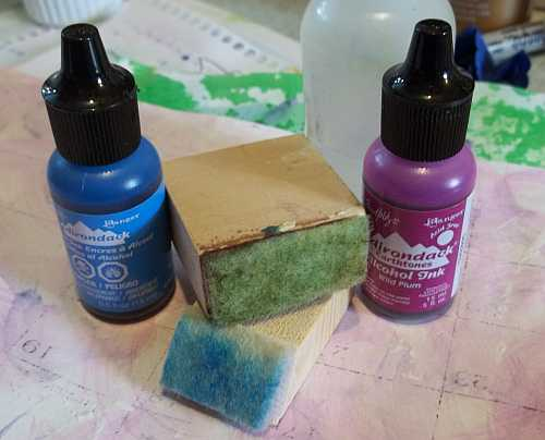 Alcohol Ink Applicators- Made from small pieces of scrap lumber found in Ken's workshop.