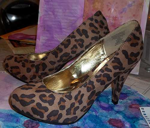 Art Therapy Shoes- Nothing I would ever normally buy or try to wear... These were purchased with modifying them in mind.