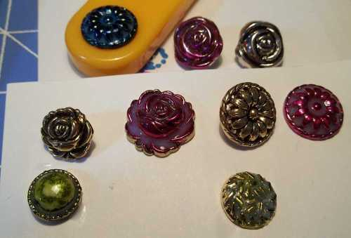 Inked Buttons with Sealer on Them