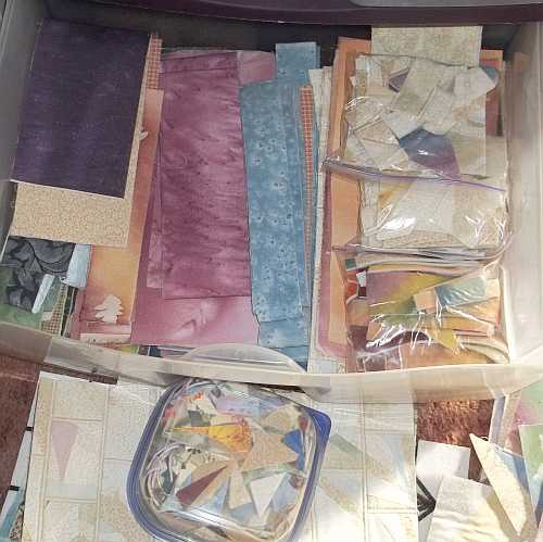 Large Hunks and Strips- This is a large plastic drawer full of sorted pieces... There is also a small container of itty bitty bits for pins... I couldn't part with all the little stuff ;)