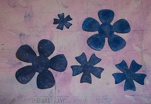 Painted Die Cut Flowers