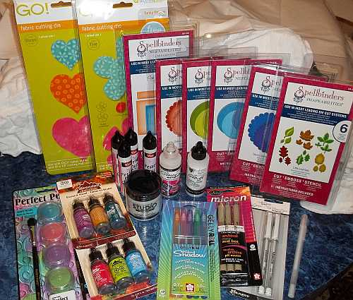 Prize won in the Get Crafty Promotion put out by ArtFire!  I still can't believe I won all this!