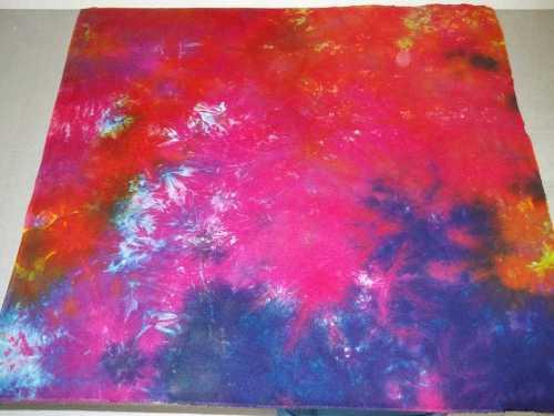 Sateen Surprise #1- I loved how the colors were so bright on this piece, but didn't realize it was a sateen till I ironed it.