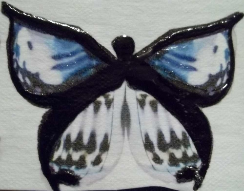 Kraft Tex Butterfly with Sharpie accents and Glossy Accents
