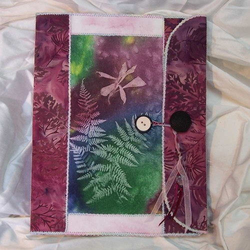 Ferns and Flower Spiral Notebook Cover