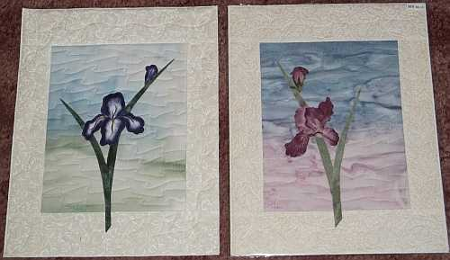 "Left- ""Blue Iris"", Right- Pink Iris- 11""x14""- Reg $60.00, Sale- $42.00 Each, plus shipping"