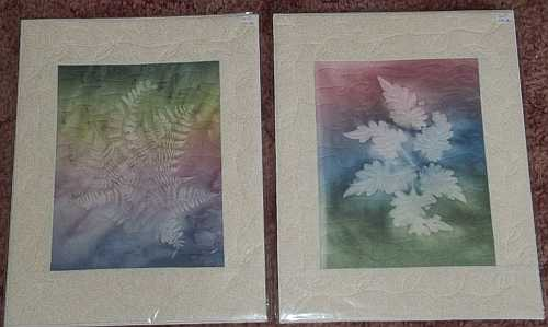 Left- Pastel Ferns Sunprint, Right- Pastel Coleus Sunprint- 11″x14″- Reg $60.00, Sale- $42.00 Each, plus shipping
