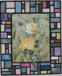Stained Glass Yellow Rose 2