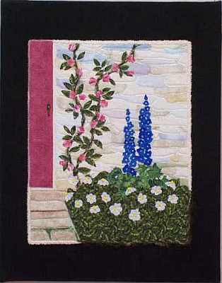 Beside The Door Mini Art Quilt on Canvas, Sue Andrus Gardens