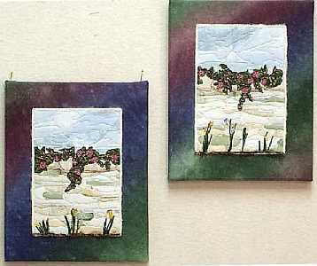 Mini Garden Walls Canvas Mounted Mini Quilts, Sue Andrus
