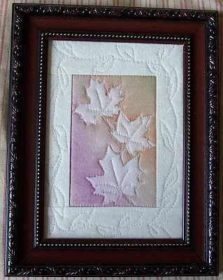 Mini Maples Framed Sunprint Quilt Sue Andrus Gardens