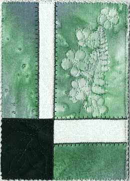 Green Fern Phlox Sunprint 5x7 Mini Quilt, Sue Andrus Gardens Quilts