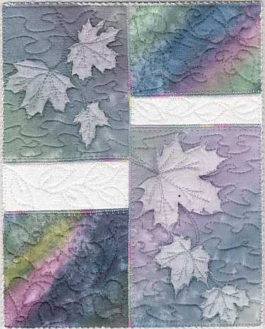 Rainbow Maples Sunprint 8x10 Mini Art Quilt, Sue Andrus Gardens