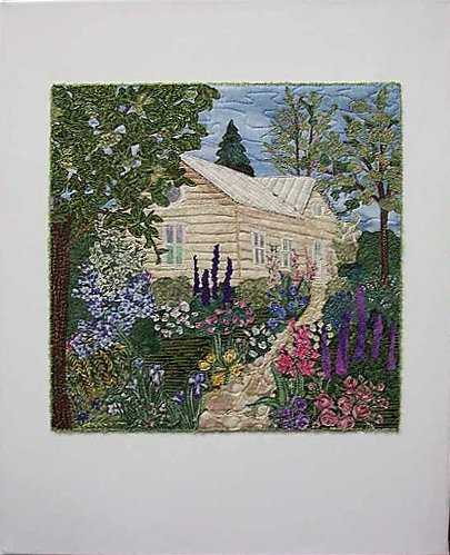 My Dream House Art Quilt, Sue Andrus Gardens