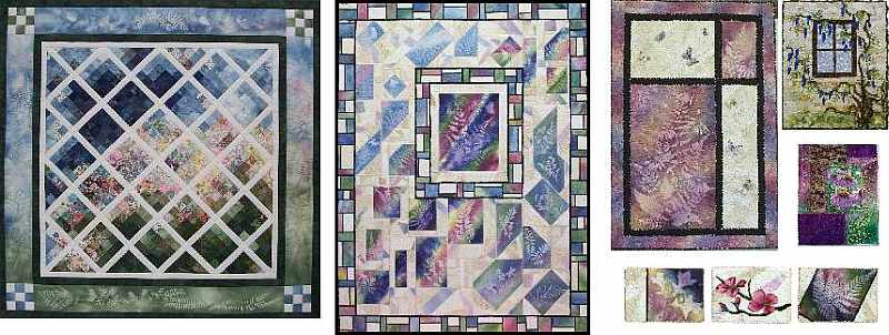 Group of Art Quilts from Sue Andrus, Andrus Gardens Quilts